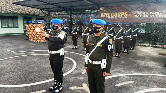 Detasemen Polisi Militer II/3 Lampung Menggelar Apel Corps Hari Ulang Tahun ke-75