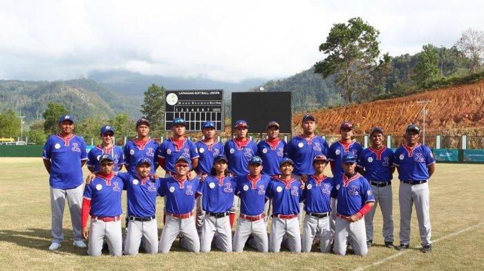 Softball Putra Lampung Kunci Medali Perak PON XX Papua 2021