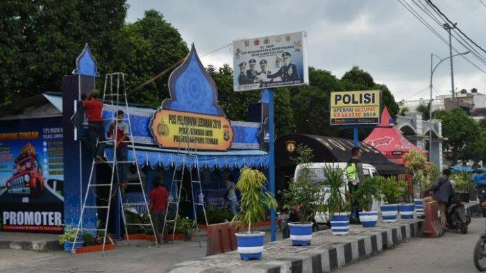 50 Personel Polres Lampung Tangah Siaga di Pos Mudik