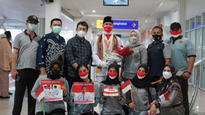 PPI Lampung Tengah Sambut Haru Kepulangan Ridho Hafidzar, Pengerek Bendera di Istana Negara