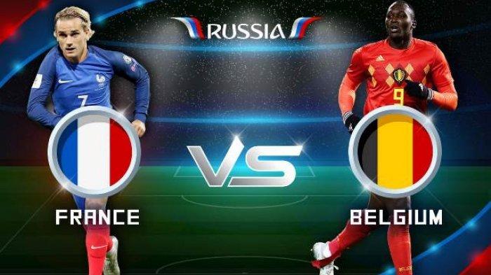 LIVE STREAMING Prancis vs Belgia - Nonton Semifinal Piala Dunia 2018 di TransTV dan Lewat HP