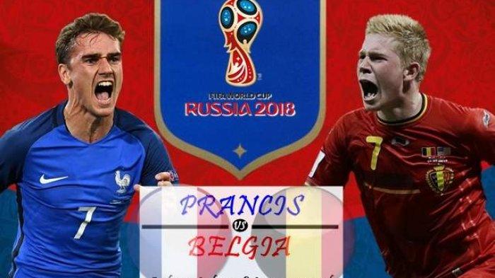 LIVE PIALA DUNIA 2018 Perancis vs Belgia di TransTV, Tonton Live Streaming Lewat Cara GRATIS Ini