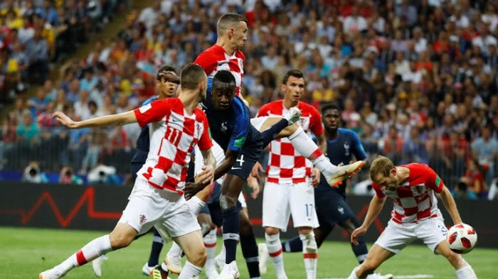 Griezmann Bawa Keunggulan Prancis 2-1 atas Kroasia