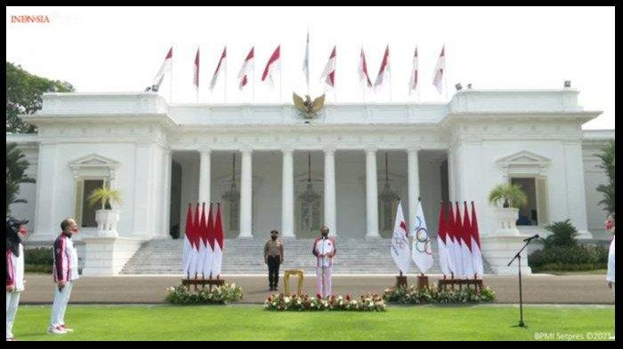 Presiden Jokowi Lepas Kontingen Olimpiade Tokyo 2020 di Istana Negara