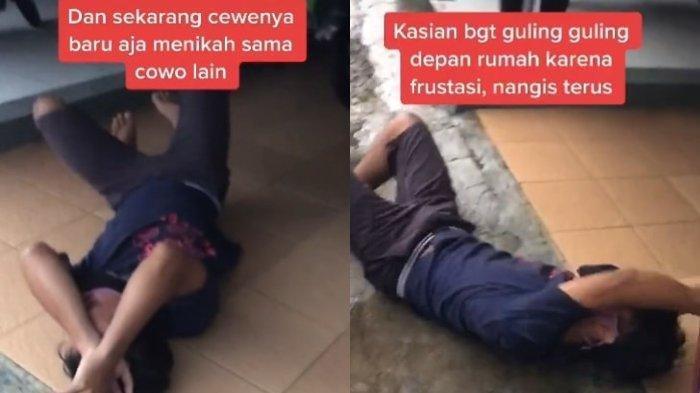 Viral Video Pria Nangis Sambil Guling-guling Teringat Mantan Pacar yang Nikah