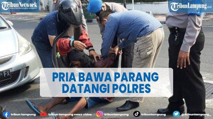 Pria Bawa Parang Paksa Masuk Kantor Polisi di Yogyakarta