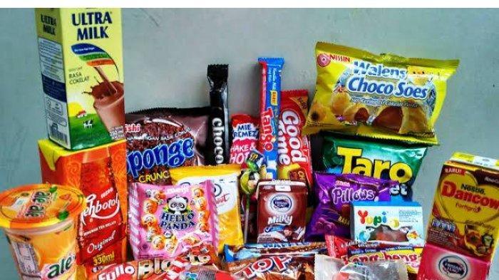 produk makanan berupa camilan dan minuman