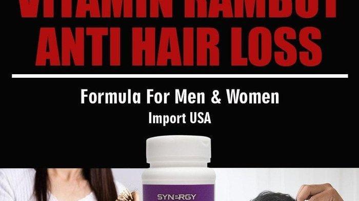 Produk suplemen vitamin rambut