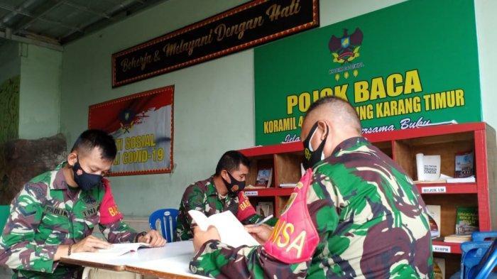 Danramil 410-04/TKT Sosialisasi Program Satu Jam Membaca kepada Anggota