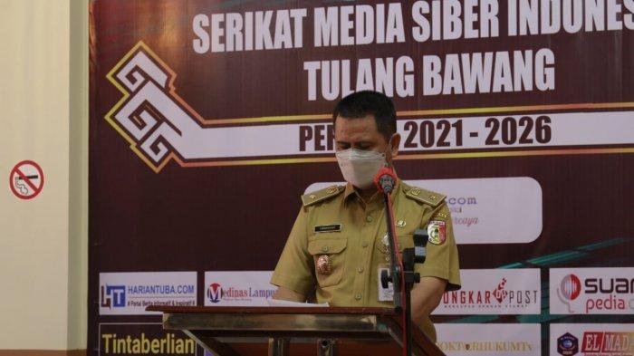 Bupati Winarti Ajak Wartawan di Tulangbawang Ikut Edukasi Pentingnya Prokes