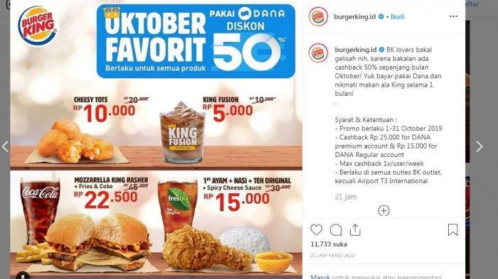 Promo Burger King Terbaru Oktober 2019 Dapatkan Cashback 50 Persen Selama Oktober 2019 Halaman 2 Tribun Lampung