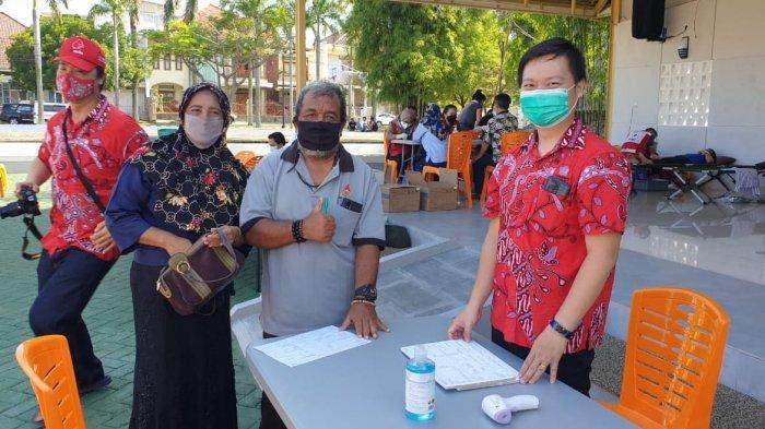 PSMTI Bandar Lampung menggelar kegiatan donor darah di Perum Villa Citra 2 Taman Villa Mas.
