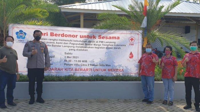 PSMTI Bandar Lampung menggelar kegiatan donor darah.