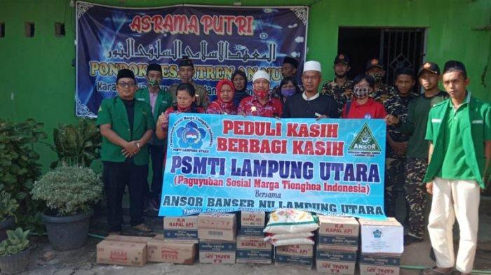 PSMTI Lampung Utara Berikan Bantuan Sembako Kepada Lima Ponpes