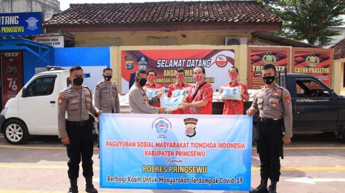 PSMTI Pringsewu Lampung Gulirkan 2,5 Ton Beras Bantu Warga Terdampak Covid-19