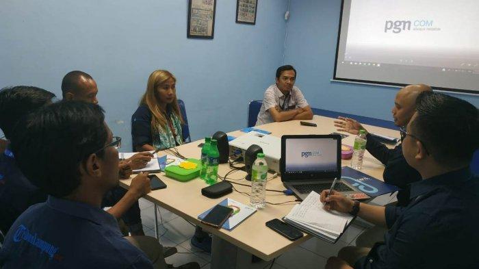 PGNCom Berkunjung ke Kantor Tribun Lampung