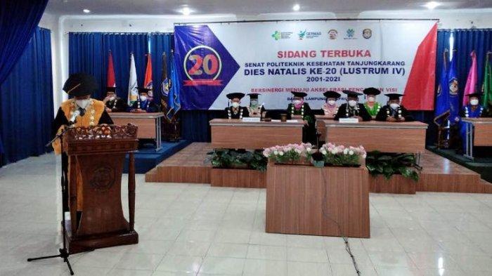 Puncak Dies Natalis ke-20 Poltekkes Tanjungkarang Ditandai Pembukaan Sidang Senat Terbuka