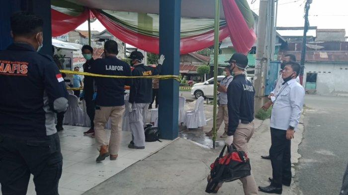 BREAKING NEWS Puslabfor Polri Olah TKP Bank Lampung Kota Agung Terbakar