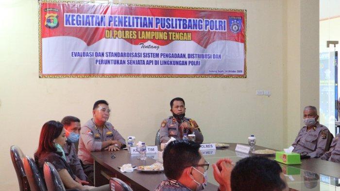 Puslitbang Polri Standardisasi Distribusi dan Peruntukan Senpi di Polres Lampung Tengah