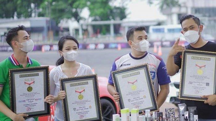 Raffi Ahmad dan Irene Sukandar Pecahkan Rekor MURI, Main Catur di Mobil Drifting