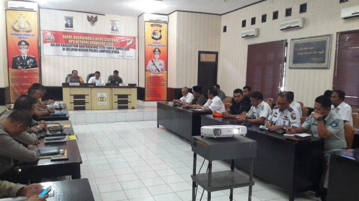 Polres Lampung Utara Gelar Rakor Persiapan Ops Ketupat Krakatau 2019