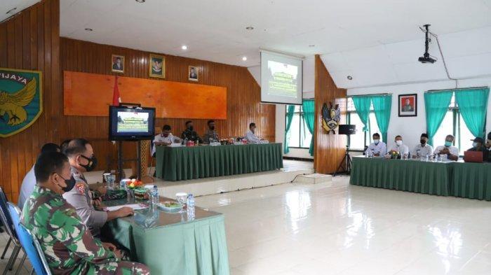 Kodim 0422/LB Gelar Rakor Bersama Pemkab Lampung Barat dan Pesisir Barat, Bahas Percepatan Vaksin