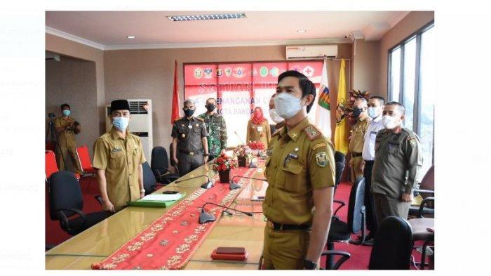 Kolonel Inf Romas Herlandes Hadiri Rakor Bersama Walikota Bandar Lampung