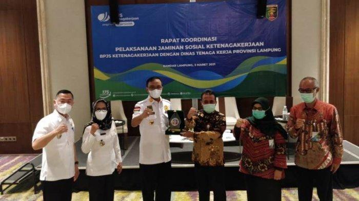 Rapat Koordinasi BPJS Ketenagakerjaan Bersama Disnaker Provinsi Lampung