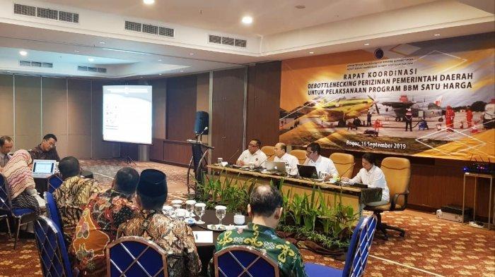 Rakor Debottlenecking Perizinan Pemda untuk Pelaksanaan BBM Satu Harga oleh Pemkab Pesibar