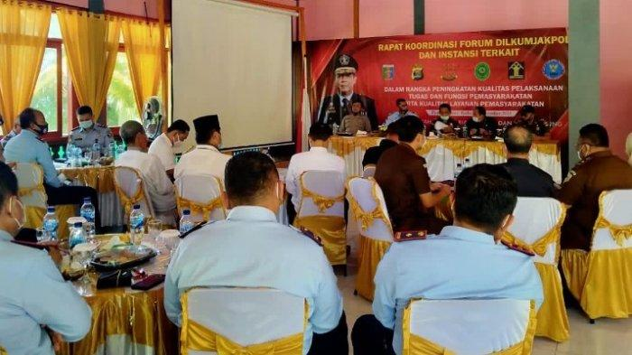 Kanwil Kemenkumham Lampung Gelar Rakor Dilkumjakpol, Farid: Hilangkan Ego Sektoral Lembaga