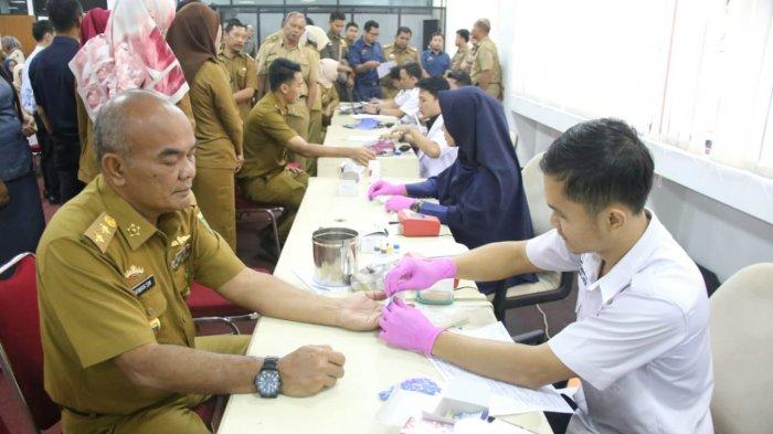 Ratusan ASN Pemprov Lampung Donor Darah, yang Sudah Donor 100 Kali Dapat Ini dari Presiden