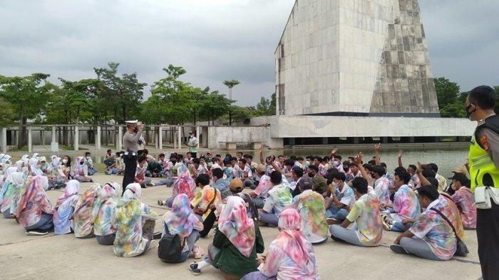 Konvoi Rayakan Kelulusan, Ratusan Siswa asal Lampung Utara Terjaring di Islamic Center Tubaba