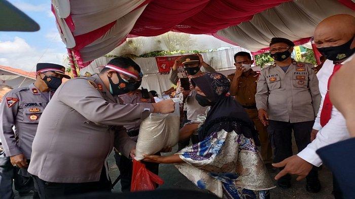 Rayakan HUT ke-76 RI, Polres Way Kanan Lampung Gelar Vaksinasi Merdeka