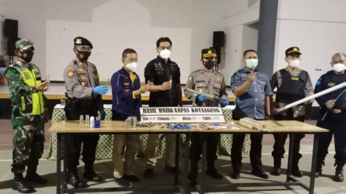 Razia di Lapas Kota Agung, Petugas Temukan Kaca hingga Balok di Sel