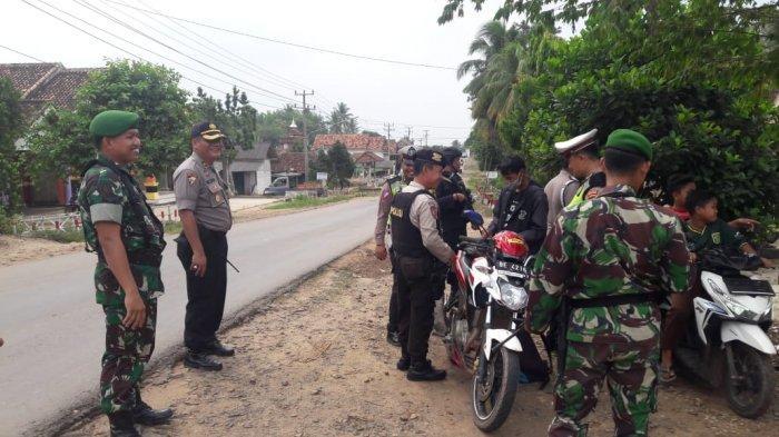 Pemuda Bawa Sajam Terjaring Razia Gabungan TNI-Polri di Lampura