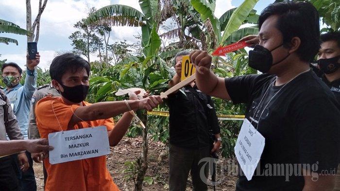 Rekonstruksi Pembunuhan Mahasiswa Unila di Lampung Barat Libatkan 20 Personel Polisi