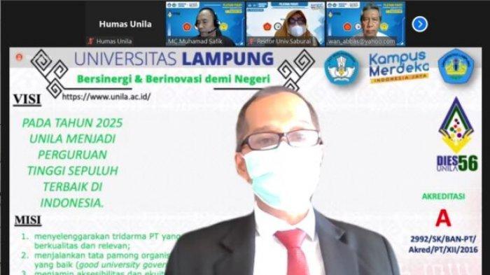 Rektor Unila Buka Pelatihan Pekerti Virtual Kerja Sama 4 PTS