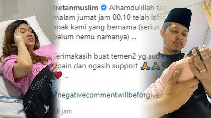 Tretan Muslim Resmi Jadi Bapak, Mengaku Belum Temukan Nama untuk Anaknya