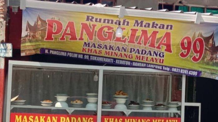 Kuliner Lampung, Rendang RM Panglima 99 Lezat Menggoda