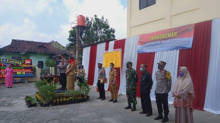 Kolonel Inf Romas Herlandes Hadiri Acara Pengukuhan Polsek Tanjung Senang