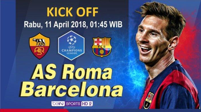 GRAFIS: Roma vs Barcelona: Misi yang Mustahil
