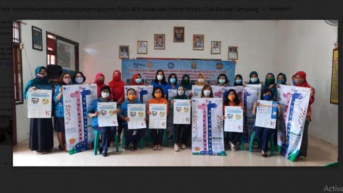 Rotary Club Bandar Lampung Gandeng Wanita Katolik RI DPC Tanjungkarang Sosialisasi Cegah Stunting