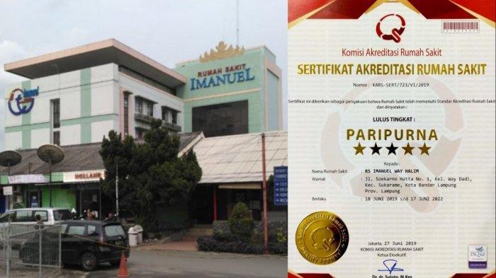 RS Imanuel Bandar Lampung Terakreditasi Paripurna Versi SNARS