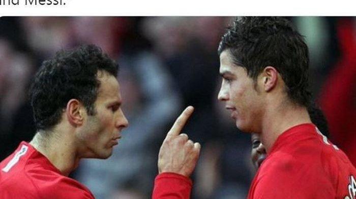 Gara-Gara Sekaleng Coca-cola, Ryan Giggs Pernah Benturkan Kepala Cristiano Ronaldo ke Dinding