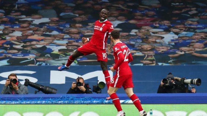 Everton vs Liverpool, Babak Pertama Berakhir 1-1