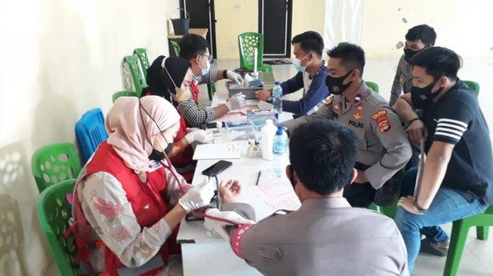 Sambut HUT Bhayangkara ke-75, Polres Mesuji Lampung Gelar Donor Darah