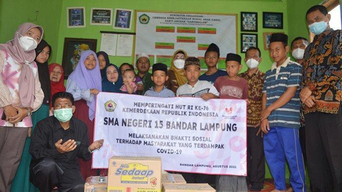 Sambut HUT ke-76 RI, SMA Negeri 15 Bandar Lampung Gelar Perlombaan Secara Daring