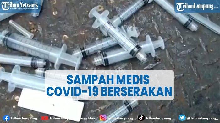 Sampah Medis Covid-19 Berserakan di Jembatan Penyeberangan Simpang Tujuh Kudus