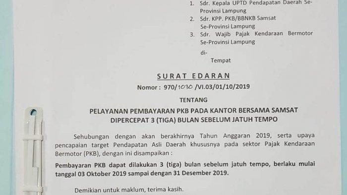 Capai Target PKB, Samsat Tubaba Percepat Pembayaran Pajak Tiga Bulan Sebelum Jatuh Tempo