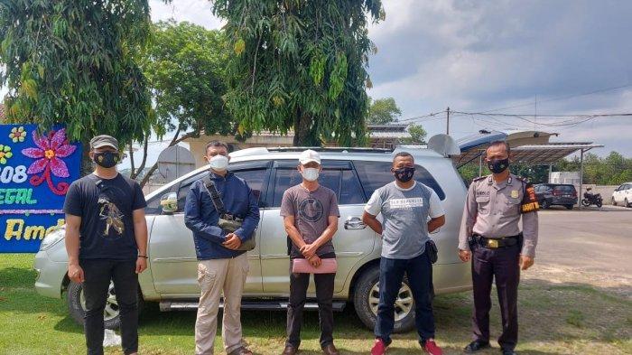 Polres Lampung Utara Serahkan Mobil Hasil Kejahatan Ke Polres Lampung Tengah
